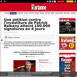 Une pétition contre l'investiture de Patrick Balkany atteint 100.000 signatures en 4 jours