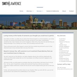 Investment Fraud Attorney in Kansas City