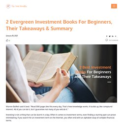 2 Best Investment Books For Beginners and Their Takeaways