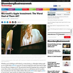 Worst Deal Ever: Microsoft's Apple Investment