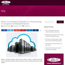 Return on Investment Calculation on Cloud Hosting in comparison of Dedicated Servers