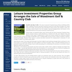 Commercial Golf Courses for Sale in United States - Leisure Investment Properties Group