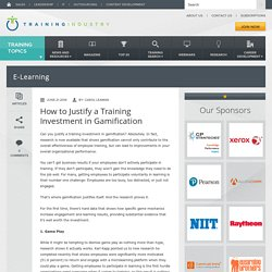 How to Justify a Training Investment in Gamification