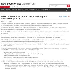 NSW delivers Australia's first social impact investment policy