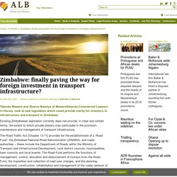 African Law and Business - Articles - Zimbabwe: finally paving the way for foreign investment in transport infrastructure?