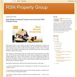 Real Estate Investing - RSN Property Group