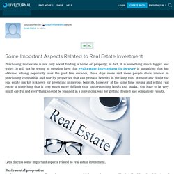 Some Important Aspects Related to Real Estate Investment: luxuryhomesite