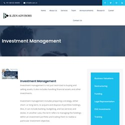 Get the best Investment Management Service in India