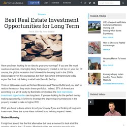 Best Real Estate Investment Opportunities for Long Term