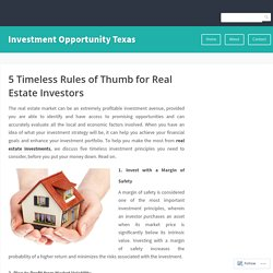 5 Timeless Rules of Thumb for Real Estate Investors