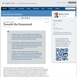 Investment Outlook - Towards the Paranormal