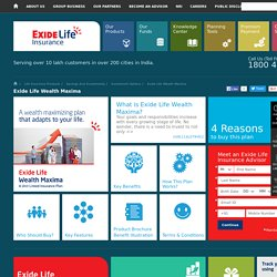 ULIP Plans from Exide Life Insurance