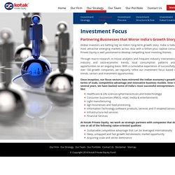 Private Equity Investment Focus - Kotak