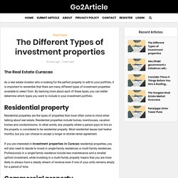 The Different Types of investment properties
