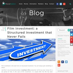 Film Investment: a Structured Investment that Never Fails