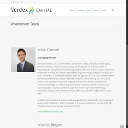 Investment Team - Verdex Capital