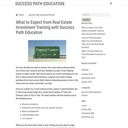 What to Expect from Real Estate Investment Training with Success Path Education - Success Path Education