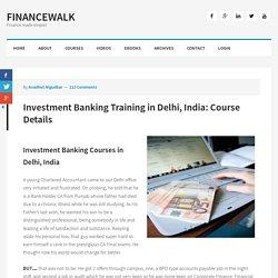 Investment Banking Course in Delhi l Best Training Institute