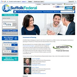 Prepare Ahead with SFCU's Investments & Planning Services