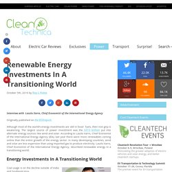 Renewable Energy Investments In A Transitioning World