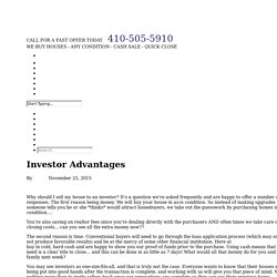 Investor Advantages -