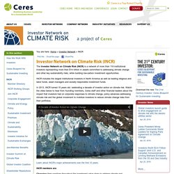 INCR (Investor Network on Climate Risk (Ceres))