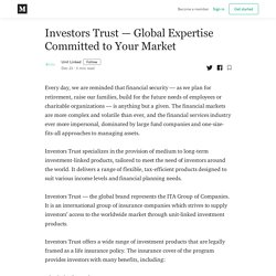 Investors Trust – Global Expertise Committed to Your Market