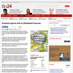 Investors ignore risk on Zimbabwe's bourse