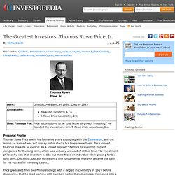 The Greatest Investors: Thomas Rowe Price, Jr.