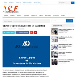 Three Types of Investors in Pakistan