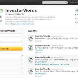 Investor Words Tweets