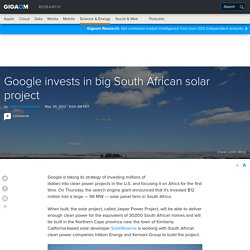 Google invests in big South African solar project