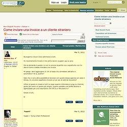 Come inviare una invoice a un cliente straniero (Italian)