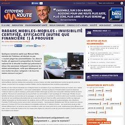 Radars mobiles-mobiles : invisibilité certifiée, efficacité (autre que financière !) à prouver - Citoyens de la route