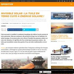 Invisible Solar : la tuile en terre cuite à énergie solaire !