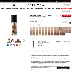 Ultra HD Invisible Cover Foundation - MAKE UP FOR EVER