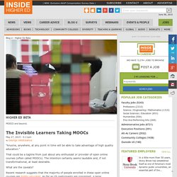The Invisible Learners Taking MOOCs