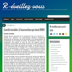 Comité invisible : L'insurrection qui vient (PDF)