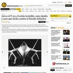 Así es el F-22, el avión invisible, más rápido y caro que lucha contra el Estado Islámico