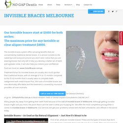 High Quality Invisible Braces in Melbourne