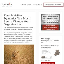 Four Invisible Dynamics You Must See to Change Your Organization