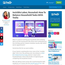 Invisible Labor, Revealed: How To Balance Household Tasks With Trello