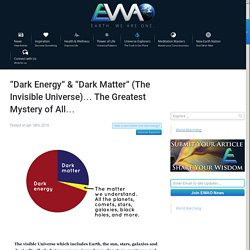 "Dark Energy"" & ""Dark Matter"" (The Invisible Universe)... The Greatest Mystery of All..."