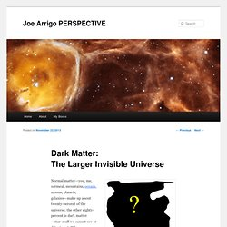 Dark Matter: The Larger Invisible Universe