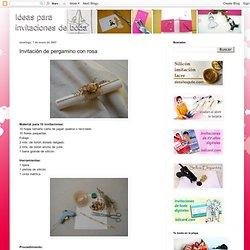 Ideas para invitaciones de boda: Invitación de pergamino con rosa
