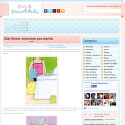 Baby Shower: invitaciones para imprimir