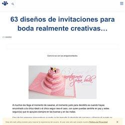 63 diseños de invitaciones para boda realmente creativas...