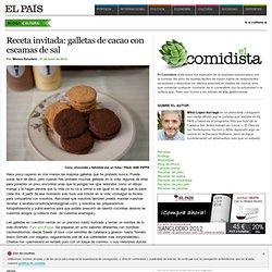 Receta invitada: galletas de cacao con escamas de sal