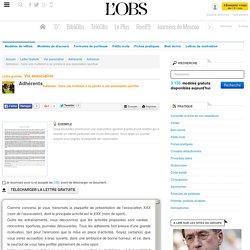Adhésion : Faire une invitation à se joindre à une association sportive - Adhésion - ABC-Lettres par l'Obs