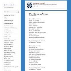 L'Invitation au Voyage, poème de Charles Baudelaire